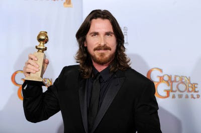 BEST SUPPORTING ACTOR: Christian Bale -- The Fighter