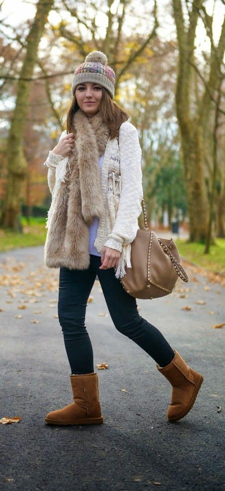 Love The Cardigan   Faux Fur Scarf / Best LoLus Comfy Fashion