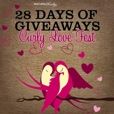 Enter to win Curly Hair prizes: NaturallyCurly's 28 Day Love Fest Giveaway  http://www.naturallycurly.com/giveaways/NaturallyCurly-28-Day-Love-Fest-Giveaway