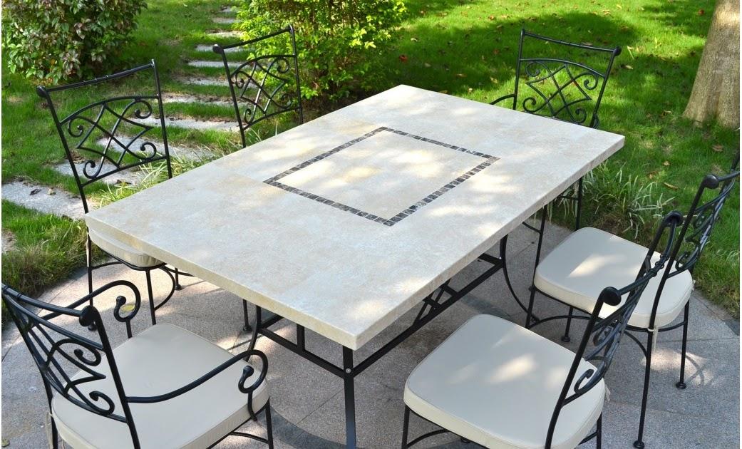table et chaises de terrasse table de jardin mosaique. Black Bedroom Furniture Sets. Home Design Ideas