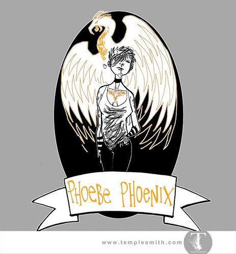 Wormwood Pint Glasses: Phoebe Phoenix