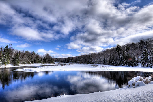 A Moose River Snowscape by David Patterson