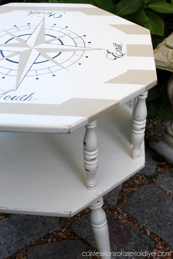 Nautical Compass Table