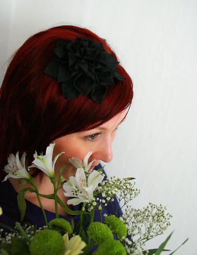 Headband with satin rose