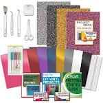 Cricut Tools Bundle - Beginner Cricut Guide, Vinyl Pack, Basic Tools & Cricut Explore Fine Point Pens | by Craft-e-Corner