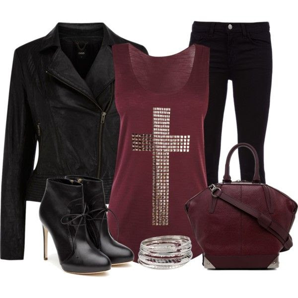 Rocker Chic - Polyvore. Just with lower heel boots.