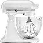 KitchenAid Artisan Design Series KSM155GBFP 5-Quart Mixer - Frosted Pearl White - 325W