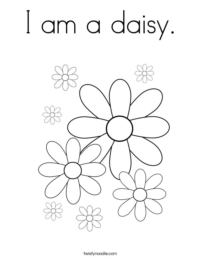 I am a daisy Coloring Page - Twisty Noodle