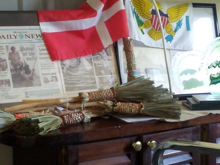 Homemade samples of handmade broom with a Daily News front page ...