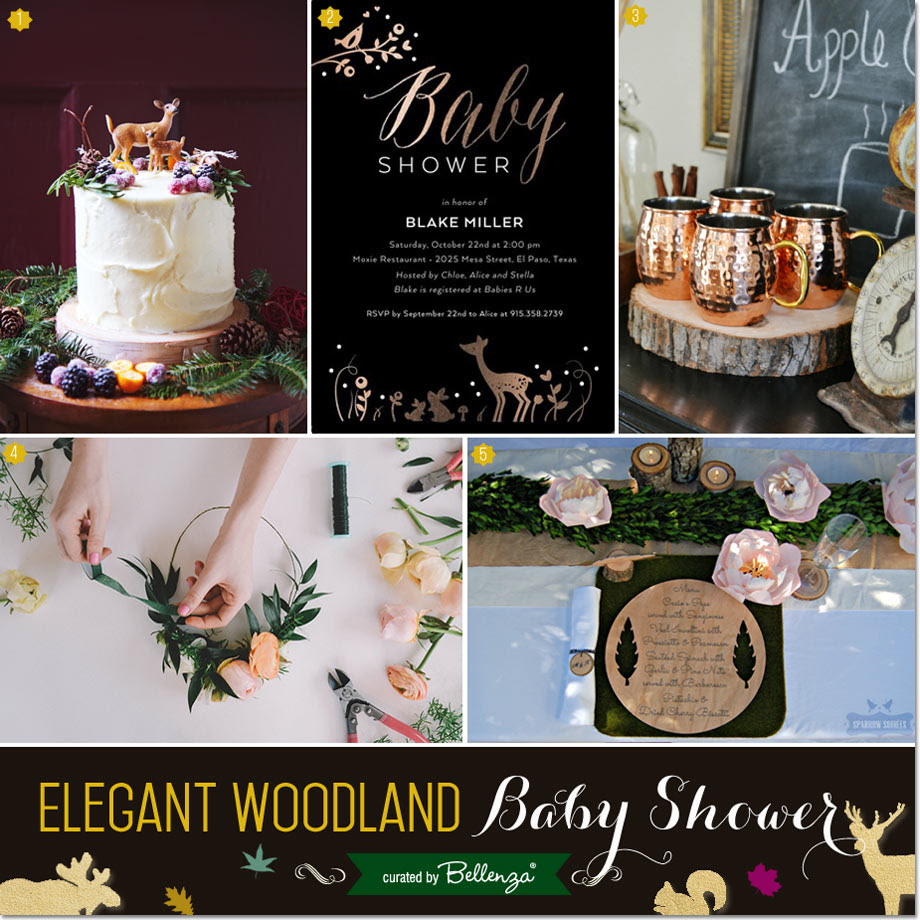 Elegant Woodland Themed Baby Shower Inspiration For Fall