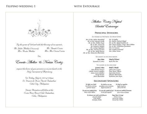 Wedding Invitation Sample Content
