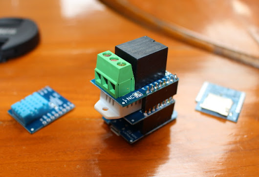 Getting Started with Wemos D1 mini ESP8266 Board, DHT & Relay Shields