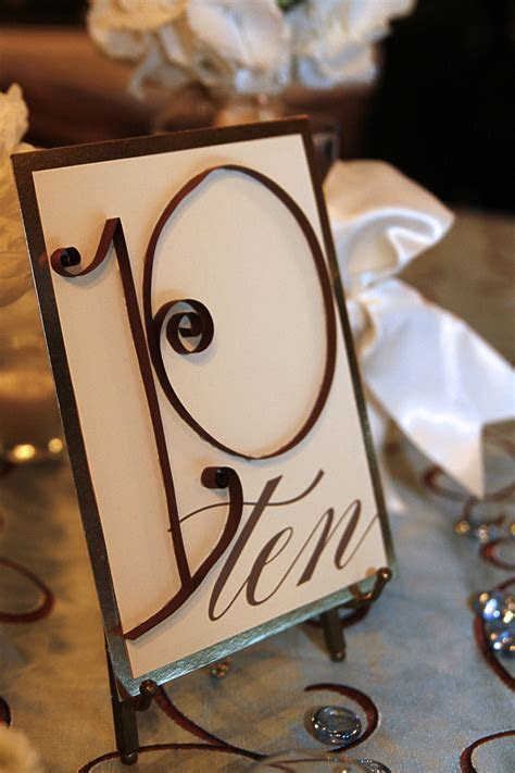 Wedding Details: Table Numbers Ideas