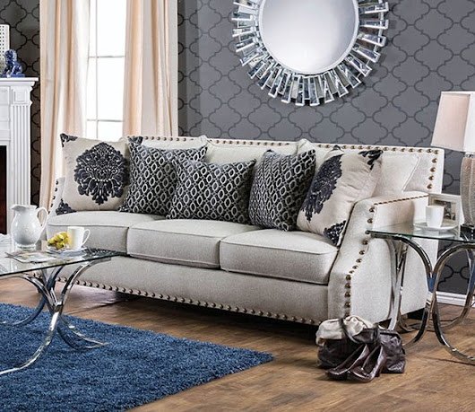 Cornelia Sofa in Beige by Furniture of America