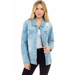 Oversized Destructed Denim Jacket