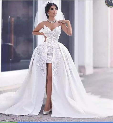 Gorgeous Sweetheart Front Short Long Back wedding Dresses