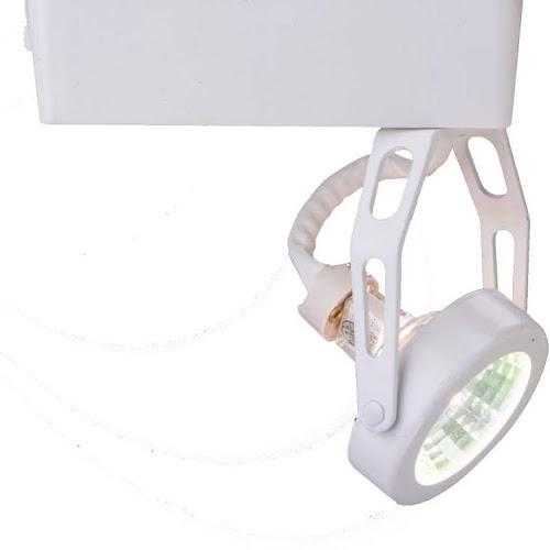 Halo Lazer Low Voltage White Gimbal Ring Track Lighting With Integral 12 Volt Elec Transformer 50 Watt Mr16