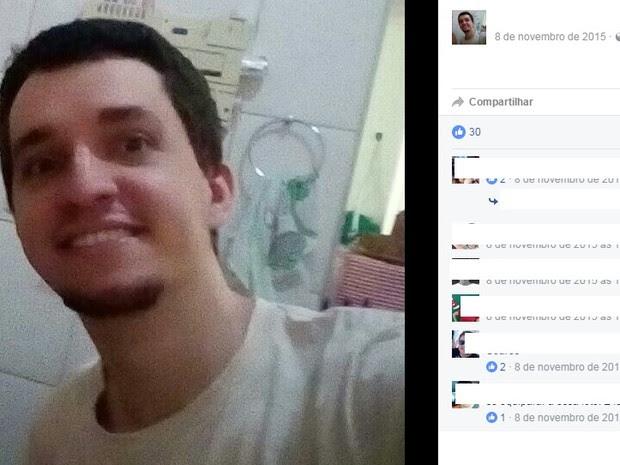 Celso Henrique passou por cirurgia neste sábado (Foto: Reprodução/ Facebook)