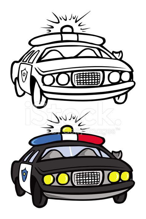 policji samochod kolorowanka stock vector freeimagescom