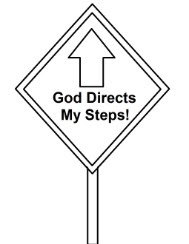 God Directs My steps Coloring Page