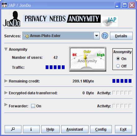 Navigare su internet in anonimo con JAP un software gratuito senza proxy