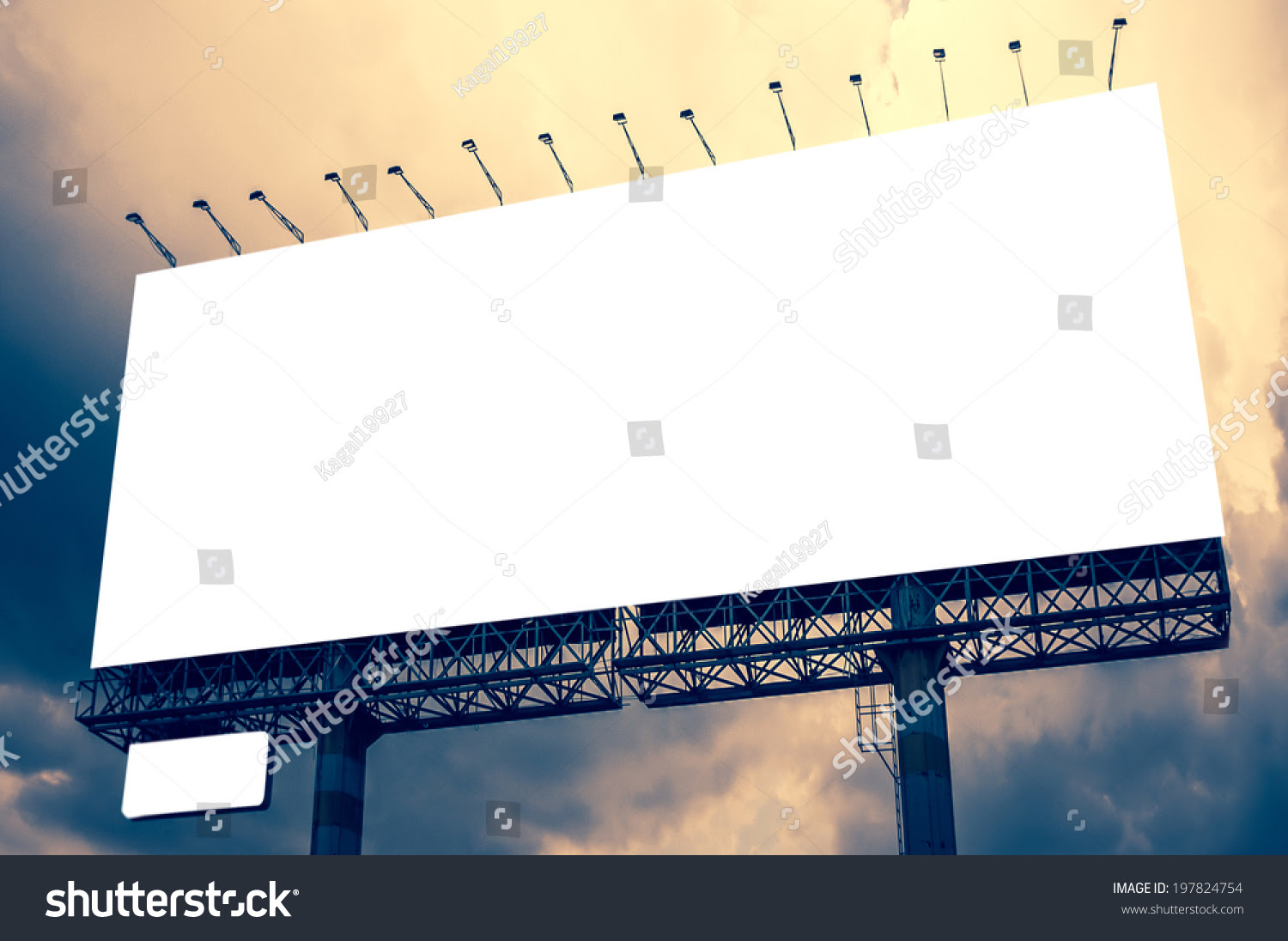 Blank Billboard Advertising Outdoor Public Commercial Stock Photo ...