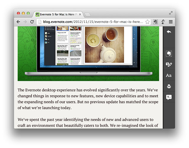 DNP Evernote Clearly offers texttospeech to its Premium portfolio