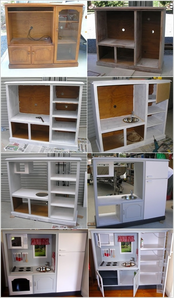 Transform an Old TV Cabinet into a Play Kitchen for Your ...