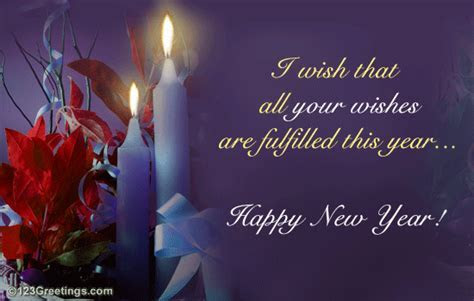 A Warm New Year Wish  Free Happy New Year eCards