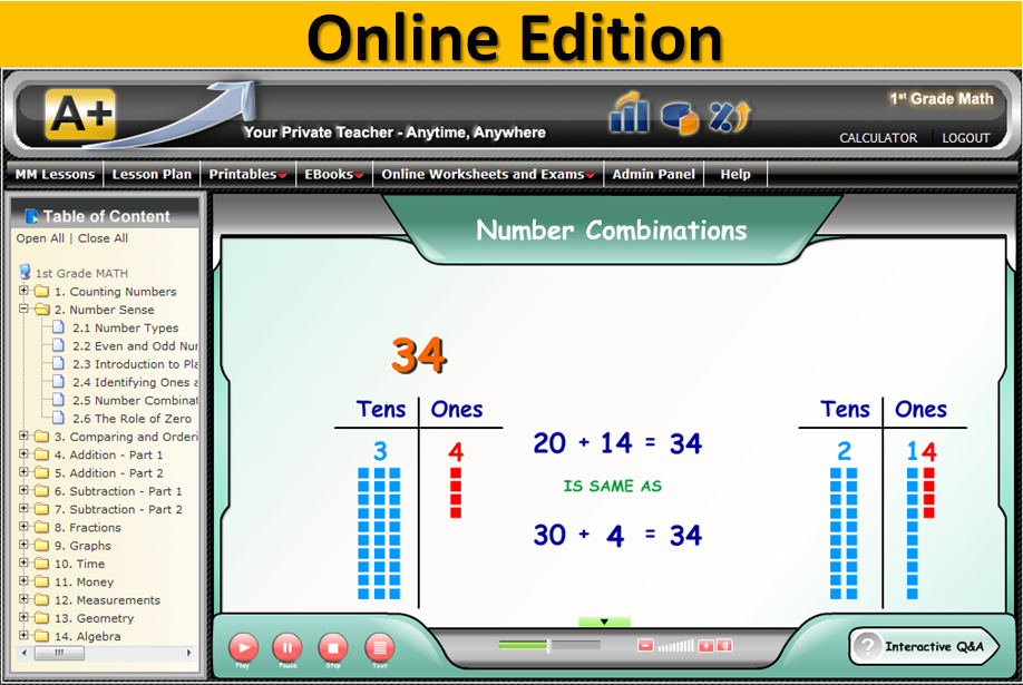 TutorSoft Online Math