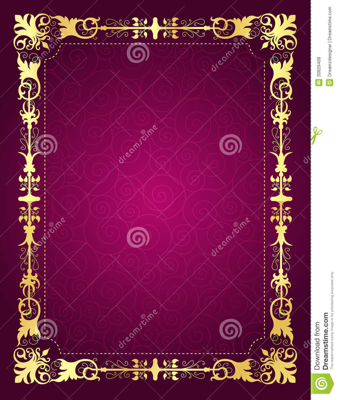 Invitation Card With Ornamental Frame And Backgrou Royalty Free Stock Photos - Image: 30829408