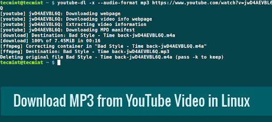 How to Download MP3 Tracks from a YouTube Video Using YouTube-DL
