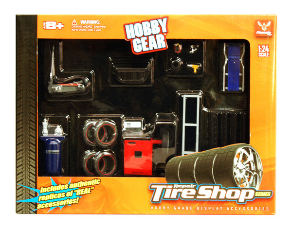 Hobby Gear 124 Scale Tire Shop Diorama Set Acapsule Toys And Gifts