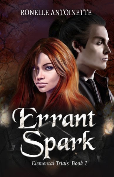 Book Cover for Errant Spark from the Elemental Trials romantic fantasy series by Ronelle Antoinette.