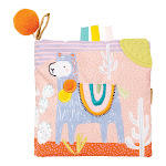 Manhattan Toy Company 218430 Llama Themed Baby's First Activity Soft Fabric Book by VM Express