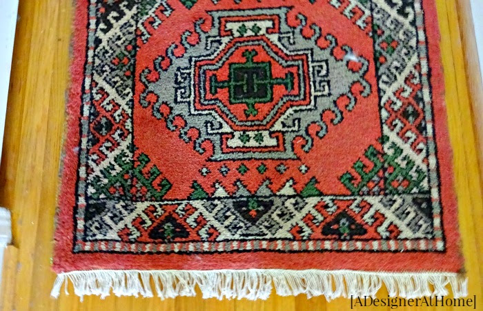 vintage hallway runner rug adds color and comfort to an otherwise dark and dull hallway
