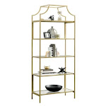 Better Homes & Gardens Nola Decorative Bookcase, Gold