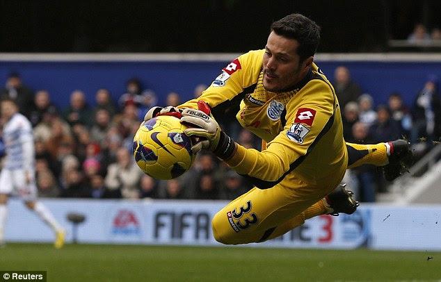 Main man: Cesar impressed at Loftus Road despite the side's struggles in the Premier League