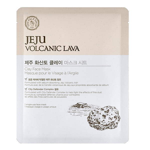 Image result for the face shop jeju volcanic lava sheet mask