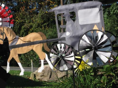 Horse and buggy pinwheel
