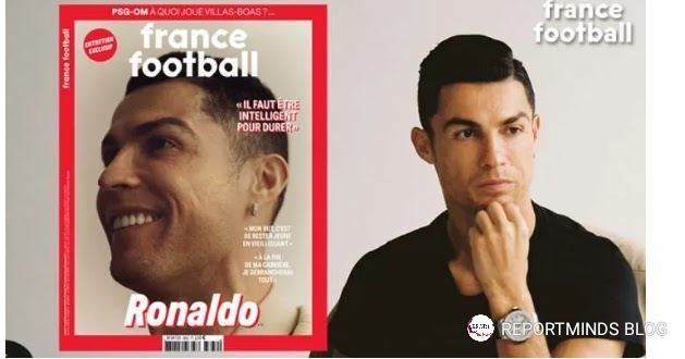 Sports:  Ronaldo Covers Ballon D'or Magazine, Reveals Retirement Plans (Read More)