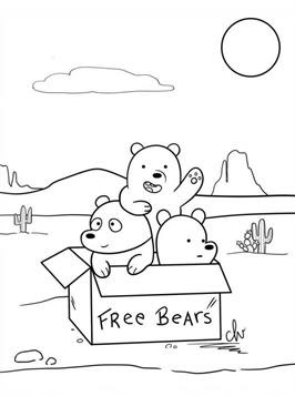 Coloring Pages For Kids We Bare Bears Online Coloring For Free
