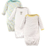 Luvable Friends Baby Unisex Gowns, 3-Pack