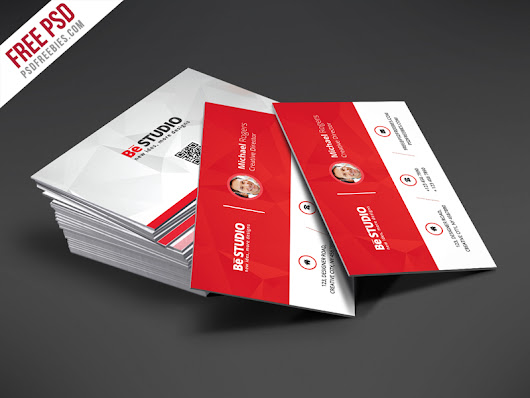 Creative Red Business Card Free PSD Template | PSDFreebies.com