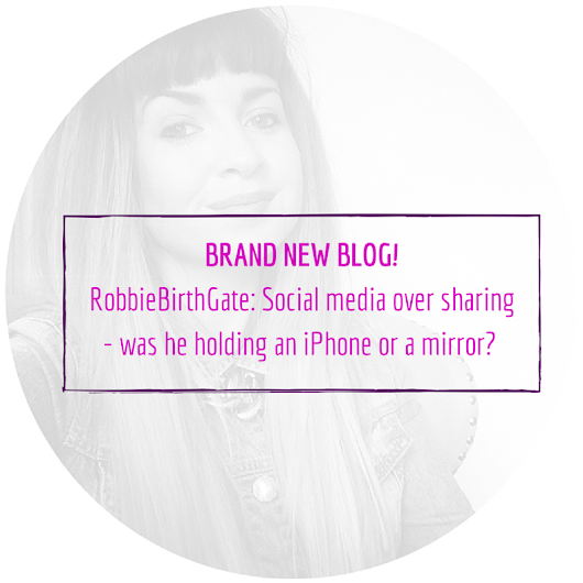 RobbieBirthGate: Social media over sharing - was he holding an iPhone or a mirror? (ADULT content)