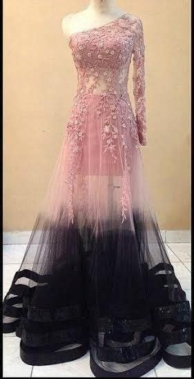 Designer Pink & Black Indo Western Gown, wedding