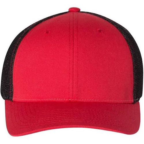 Richardson 110 Fitted Trucker with R-Flex - Red/ Black L/XL