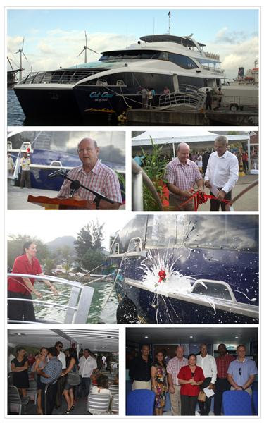 Cat Cocos - Isle of Mahe fast ferry is inaugurated