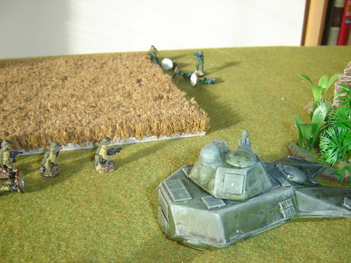 Combined arms secure flank