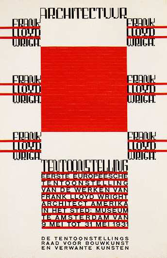 Architecture Exhibition on Frank Lloyd Wright (H. Th. Wijdeveld 1931)